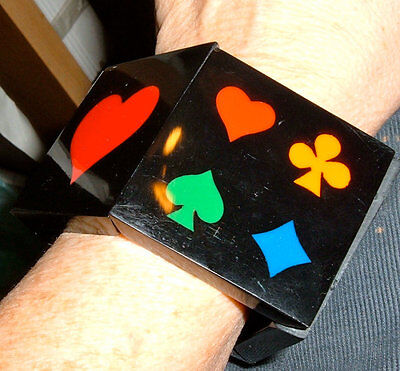Armband Stretch Armreif Vintage Acrylglas Spielkarten Brücke Canasta Poker Anzug Unterscheidungskraft FüR Seine Traditionellen Eigenschaften