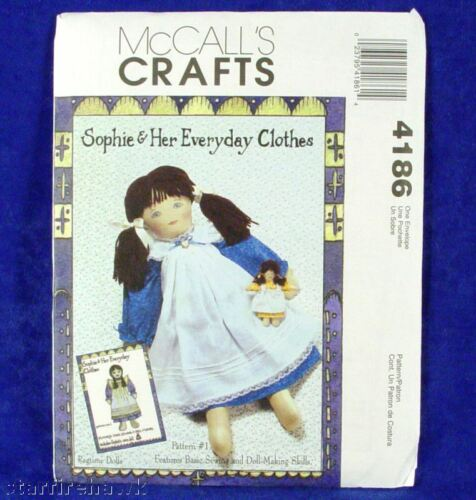 McCall/'s 4186 Sophie 21inch Rag Doll /& Clothes Pattern
