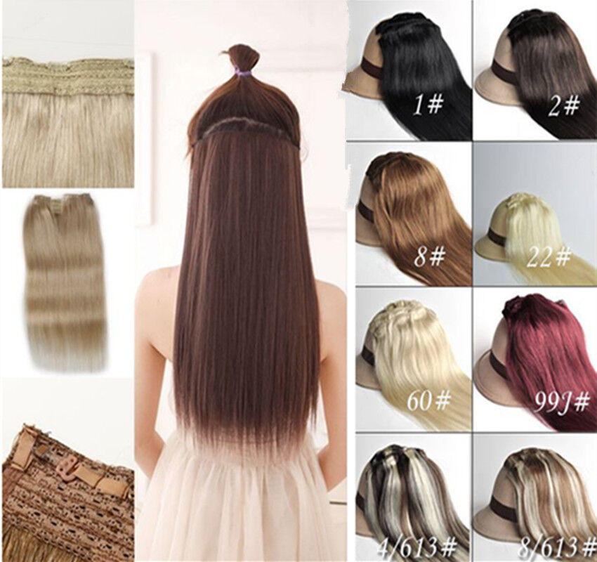 Hidden Halo Invisible Wire Line Weft 100 Remy Human Hair Extension