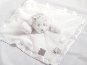 Soft-Touch-Doudou-plat-38-cm-ours-blanc-avec-satin