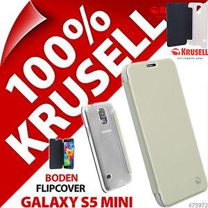 Nuovo-Krusell-Boden-Custodia-Flip-per-Samsung-Galaxy-S5-Mini-Cover-Folio-Bianco