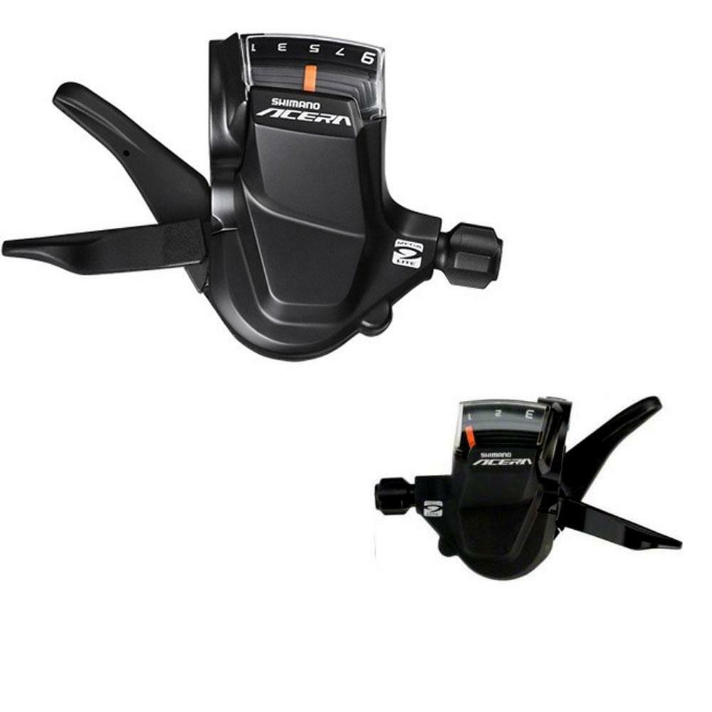 Shimano Acera M3000 Left and Right Gear shifters  9 speed Levers - Pair  various sizes