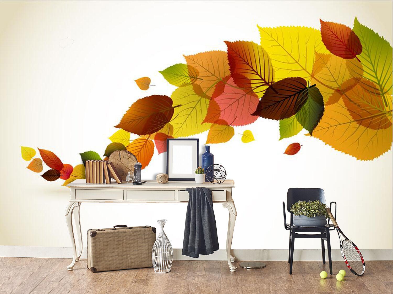 3D Farbigen Bltter 8 Fototapeten Wandbild Fototapete Bild Tapete Familie Kinder