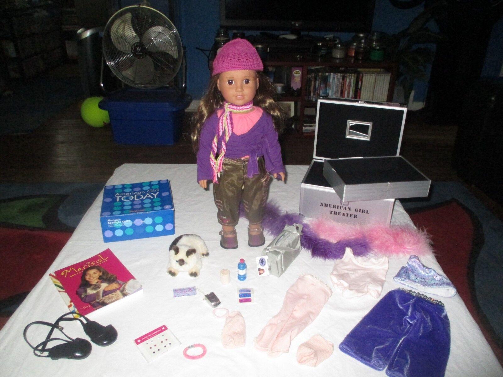 American Girl Marisol la muñeca de danza teatro tronco Estuche Acc's & Gato