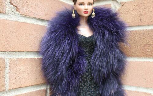 "24/"" Deep Purple Genuine Fox fur Boa for Gene Tyler Deja Vu Sybarite doll~dimitha"