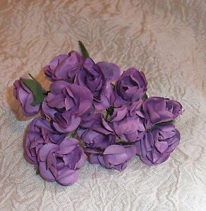 VINTAGE Parchment TINY roses cluster DOLL CLOTHES Alexander & Ginny PURPLE