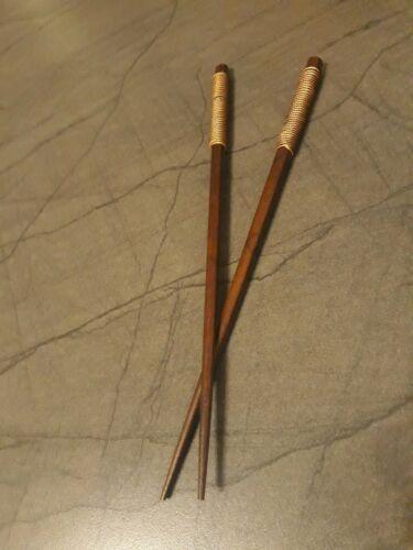 1 Paar China Essstäbchen Stäbchen Holz braun wooden chop sticks Asia Sushi