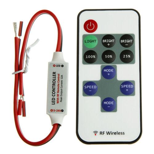 MINI Funk Einfarbig LED ControllerDimmer Wireless Fernbedienung Streifen Neu/_