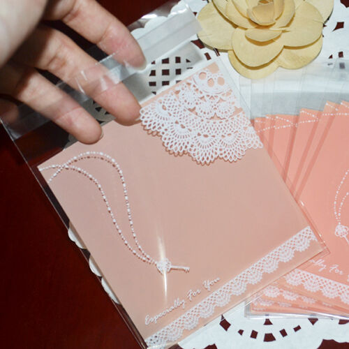 Lace /& Necklace Bakery Wedding Gifts Sweets Plastic Self-Adhesive Cello OPP Bags