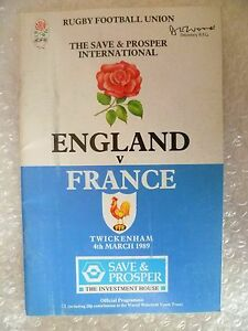 1989-Rugby-Programme-ENGLAND-v-FRANCE-4th-March