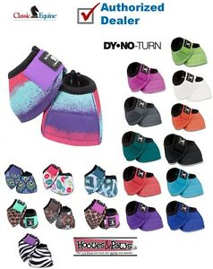 Classic-Equine-DYNOHYDE-2520D-DESIGNER-LINE-NO-TURN-Bell-BOOT-Horse-Tack-Sizes