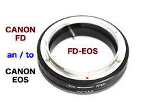 FD - EOS  Canon FD Objektiv Lens  Adapter  an --To  Canon EOS Kamera EF Mount