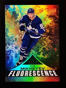 ILYA MIKHEYEV 2019-20 Upper Deck Rookie FLUORESCENCE Toronto Maple Leafs #/150