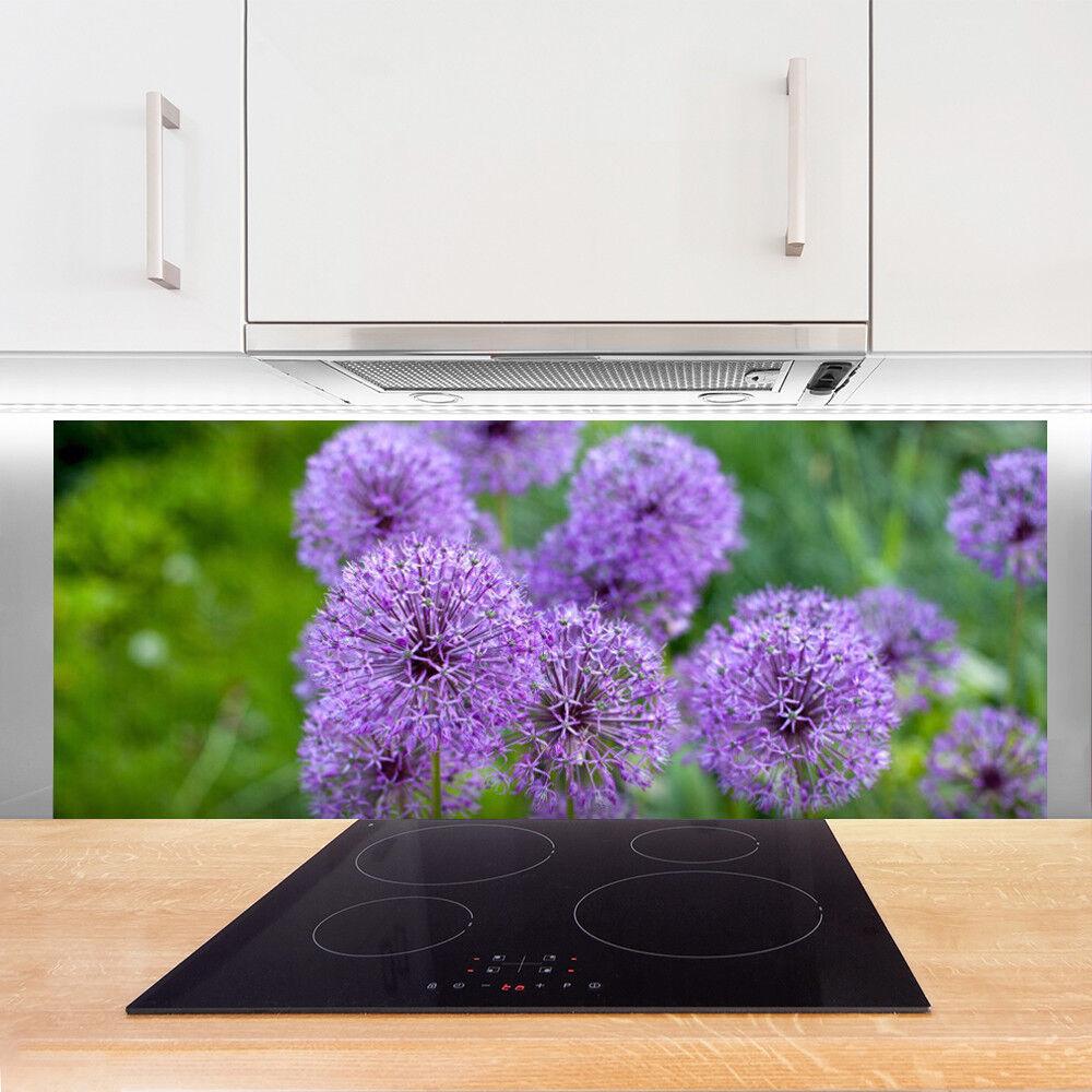 Crédence de cuisine en verre verre verre Panneau 125x50 Floral Fleurs 106ad3