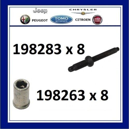 198263 New Peugeot Citroen Fiat Ford 1.6 TDCI Injector Studs /& Nuts 198283