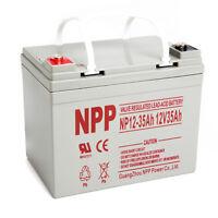 NPP 12V 35 Amp 12 Volt 35Ah UPS DC Power Deep Cycle AGM SLA Battery