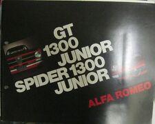 * ALFA ROMEO 1300 GT Junior Bertone+ Spider  Brochure Prospekt Depliant 1971 *