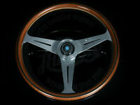 Nardi Classic Wood Steering Wheel Polished Spokes & Horn Button 360mm