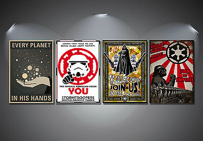 Star Wars Recruitment Propaganda Poster Set - A4-A3-A2 Sized Sets of 4