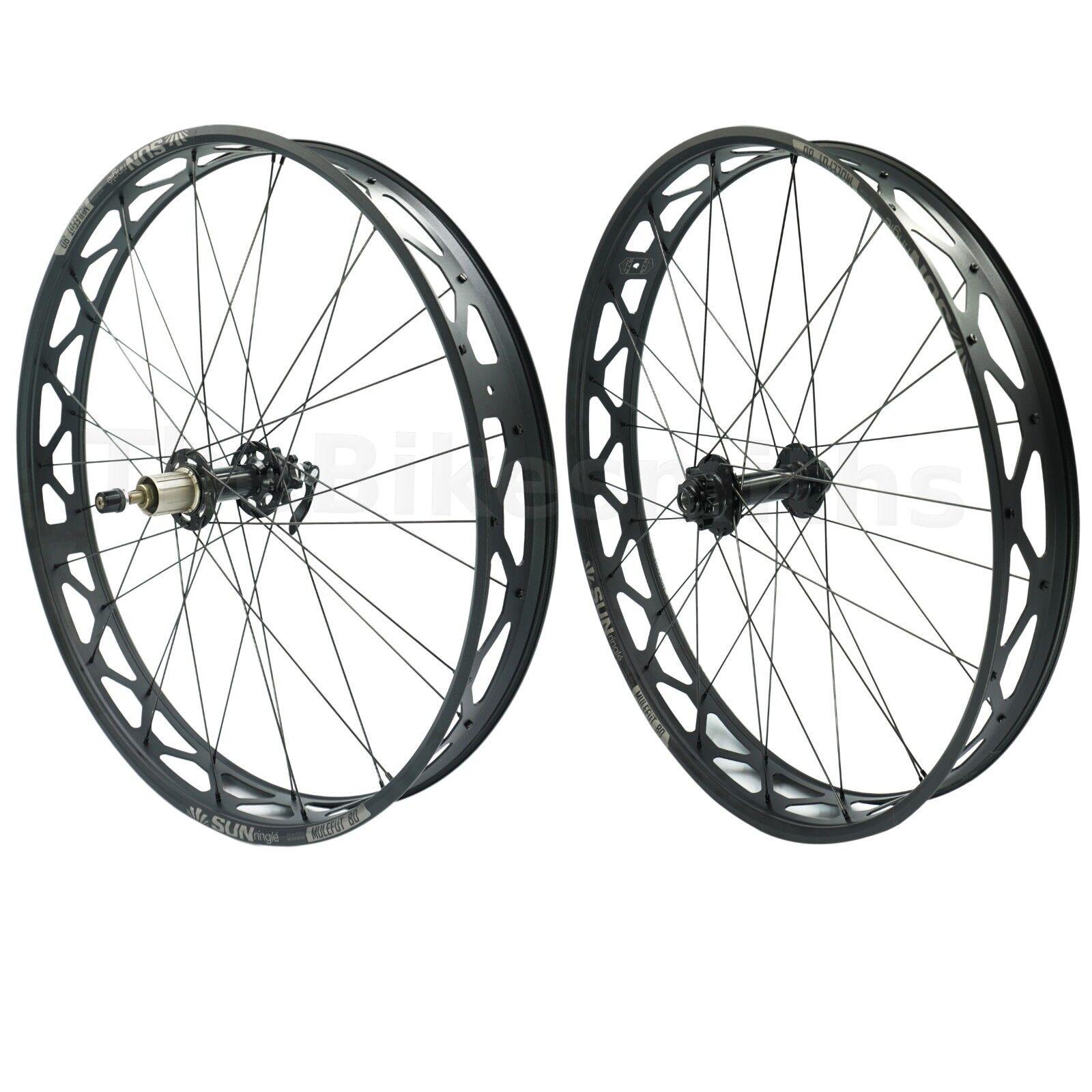 Sun Ringle MULEFUT 80SL V2 15x15mm TA Front & 170mm QR Rear Fat Cykel Wheelset