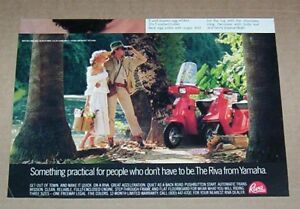 1981 ad page - Tampax tampons CUTE GIRL on Scooter Vintage