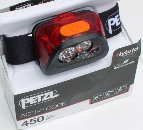 450 Lumens Petzl actik Core actif Lampe frontale Red//Black lumineuse Lampe au Chapeau