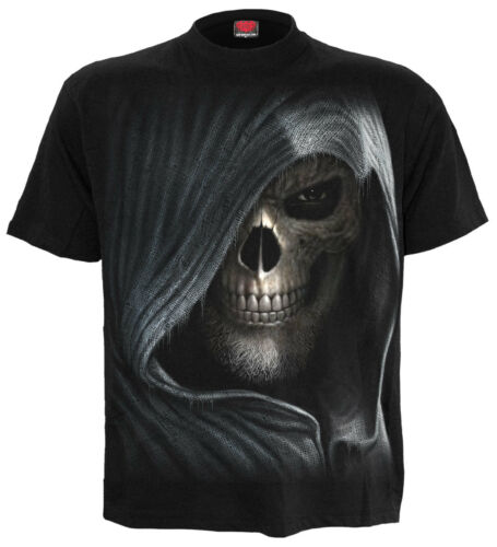 SPIRAL DIRECT DARKNESS T Shirt Goth//Rock// Metal// Skull /& wings// Dark// Tees