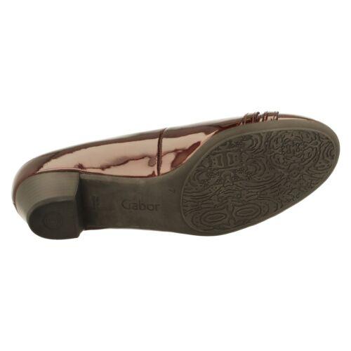 Gabor Ladies Court Shoes 92.143.98 Merlot Patent Slip On
