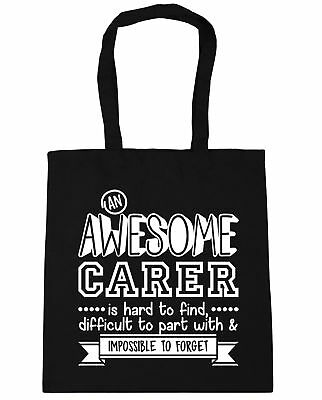 An Awesome Carer is Hard to Find Difficult to Part With Tote Shopping Bag 42cm