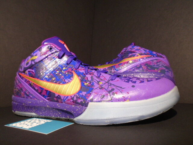 2013 Nike Zoom KOBE IV 4 PRELUDE COURT PURPLE gold VENOM RED 639693-500 12