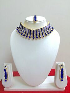 Indian-Bollywood-Designer-Gold-Plated-Fashion-Bridal-Jewelry-Necklace-Set