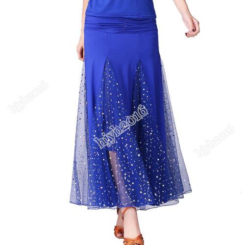 Ballroom Dance Costume Skirt Modern Waltz Tango Competition Dancewear 6 Colors