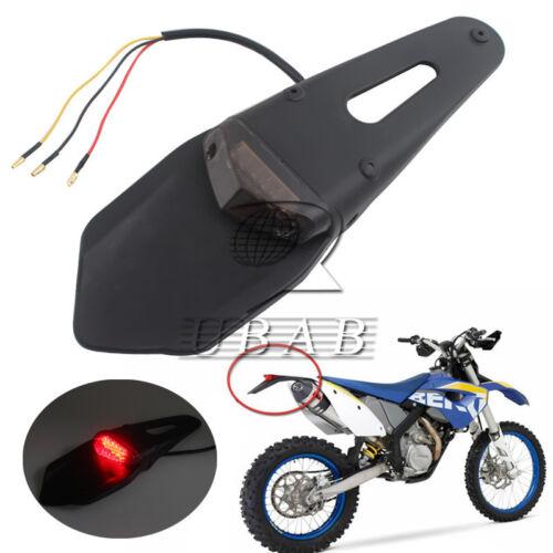 LED Rear Fender Brake Tail Light Motorcycle Trials Dirt Bike DRZ400 Smoke Custom