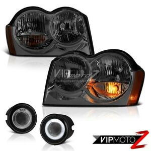 For-05-07-Jeep-Grand-Cherokee-WK-Headlamp-Chrome-Fog-Lights-OE-Style-Replacement