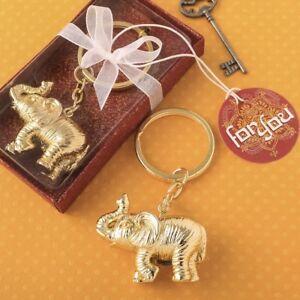 50 Majestic Indian Elephant Keychain Wedding Bridal Baby Shower Party Favors