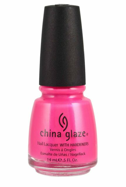 China Glaze Pink Voltage Nail Polish Lacquer with Hardeners 14ml