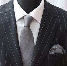 Tie Neck tie with Handkerchief Black / Grey