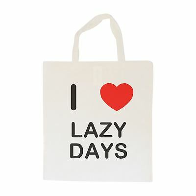 I Love Lazy Days - Cotton Bag | Size choice Tote, Shopper or Sling