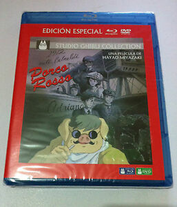 PORCO-ROSSO-STUDIO-GHIBLI-COLLECTION-ED-ESPECIAL-BLURAY-DVD-NEW-amp-SEALED