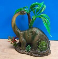 Dinosaur with Plants Aquarium Ornament Fish Tank Bowl Decoration Goldfish New