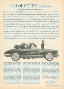 1960-Chevrolet-Corvette-Sting-Ray-Original-Anuncio-8-x-11-Puro-Sports-Coche