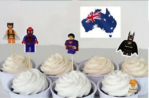 12-x-Super-Heroes-Cupcake-Jelly-Cup-Toppers-Children-Boys-Birthday-Party