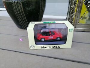 1-43-DIAPET-ZOOM-ZOOM-MAZDA-MX-5-DIECAST-IN-RED-12-5-Years-DEALER-BOX-NEW