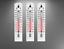 3 x Thermometer 20 cm Außenthermometer Kunststoff Zimmerthermometer Innen Außen