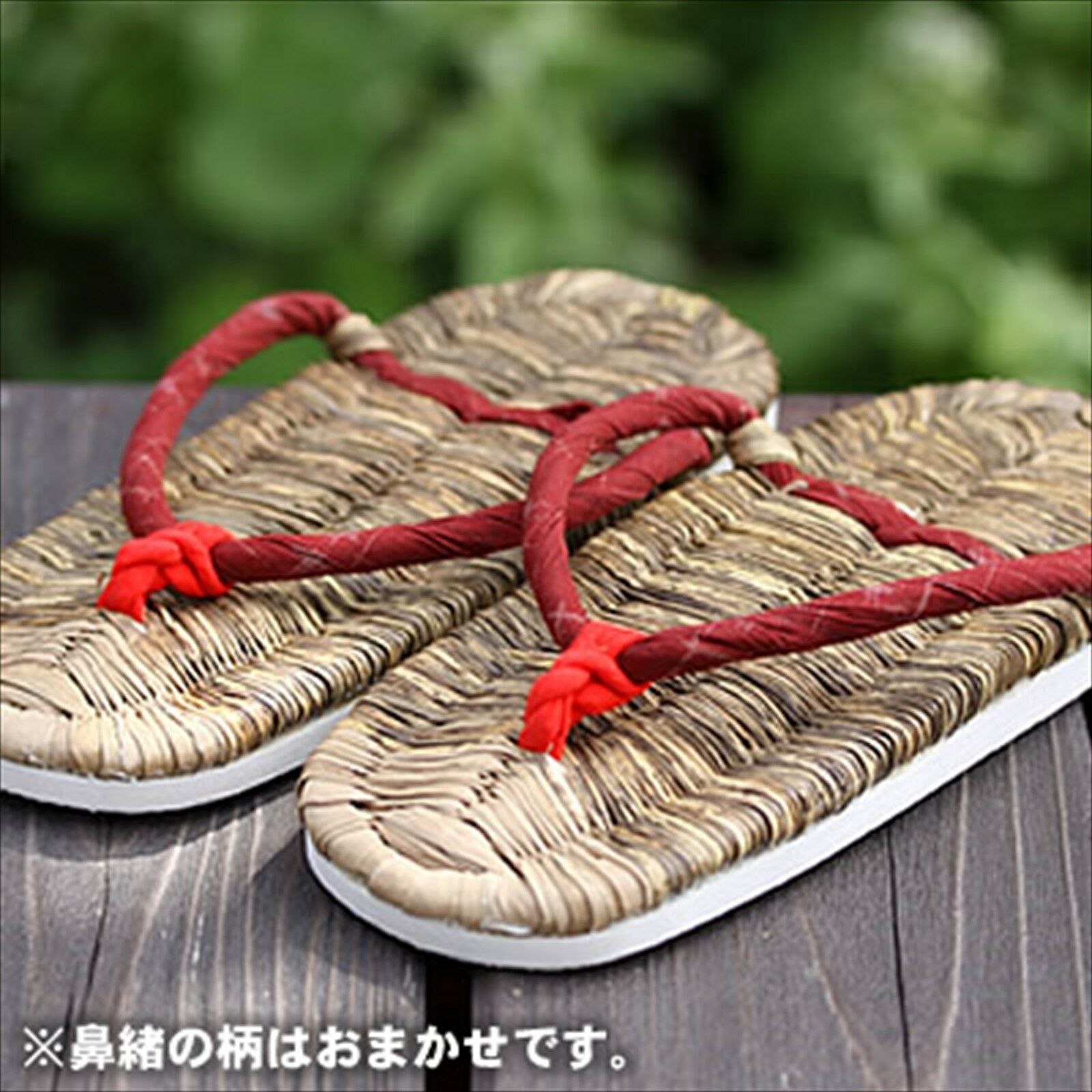 Japanese Traditional Bamboo Skin Health Slippers Zori Hand Made Donna 23.5cm