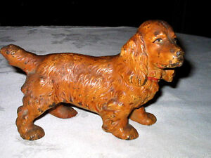Image Is Loading ANTIQUE HUBLEY DOG DOORSTOP COCKER SPANIEL CAST IRON