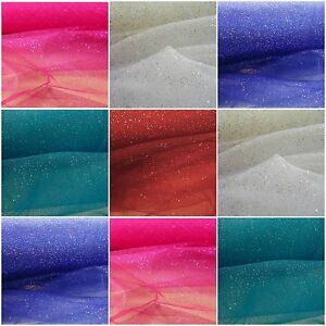 Glitter-Sparkle-Tulle-54-034-x-10-yd-Fabric-Wedding-Party-Tutu-Nylon-Colors