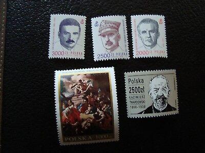 Polen Briefmarke Yvert/tellier Nr col9 3151 3152 3154/56 N Mnh HüBsch Und Bunt