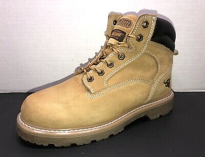 Texas Steer Men/'s Judd Work Boots Soft Toe Tan Nubuck Leather Model 00094 EE