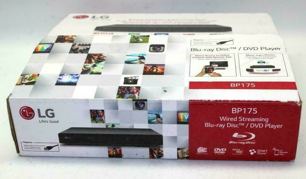 New LG BP175 Wired Streaming Hi-Res Audio Blu-Ray DVD Disc Player - Ships FREE audio bp175 disc dvd free new player ships streaming wired